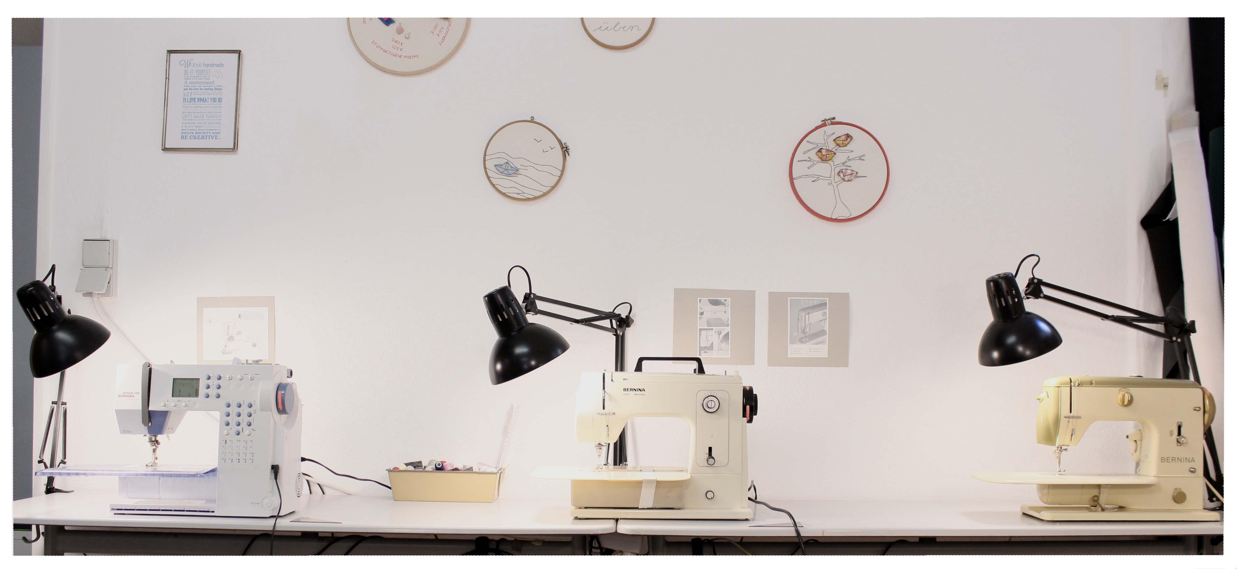 Nähmaschinen für die Nähkurse Sew It yourself